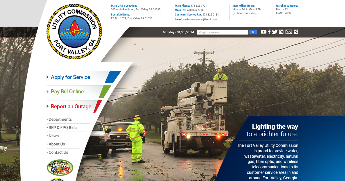 Fort Valley Utility Commission | Offical Website | Peach County, Georgia
